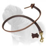 Leather Mastiff Dog Leash with Round Handle