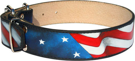 Amazing Patriotic American Flag Dog Collar for Mastiff