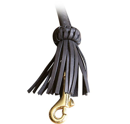 Rolled Leather Dog Leash-4 foot Round lead for Mastiff
