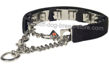 Les colliers coercitifs (étrangleur, sanitaire, d'éducation, à piques, Torquatus, électrique) Mastiff-NECK-TECH-STAINLESS-STEEL-Prong-Collar-COVER