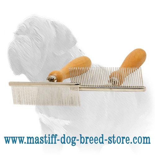 Mastiff combs with big and short     distance between the teeth
