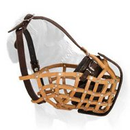 Easy to Breathe Mastiff Leather Basket Muzzle - Best for Agitation Training