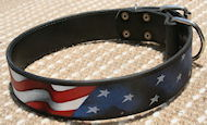 American Mastiff Leather Collar - Handpainted best dog collar