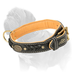 Mastiff dog collar made of full grain leather
