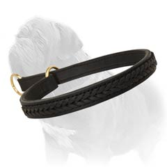 Leather choke collar for your Mastiff!