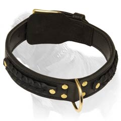 Artistically Designed Leather Dog Collar