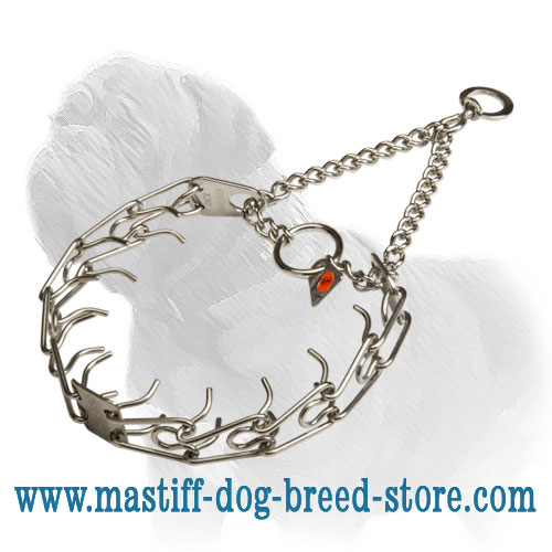 Dog metal collar, 16 inches long