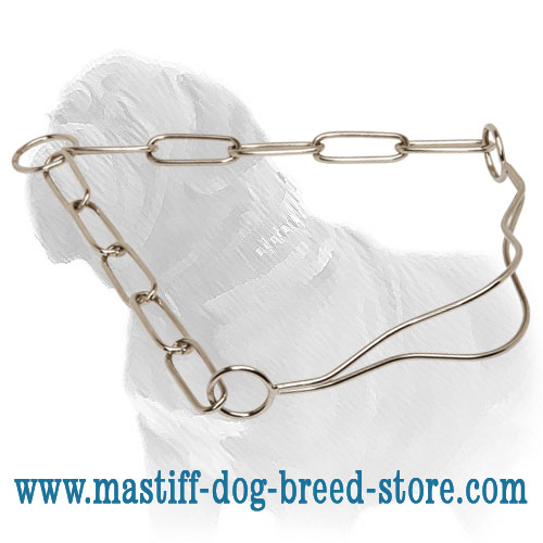 Show collar for Mastiffs, repeats the shape of throat