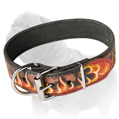 Adjustable Mastiff Leather Collar