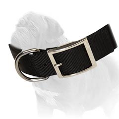 Mastiff collar made of strong nylon with nickel plated fittings