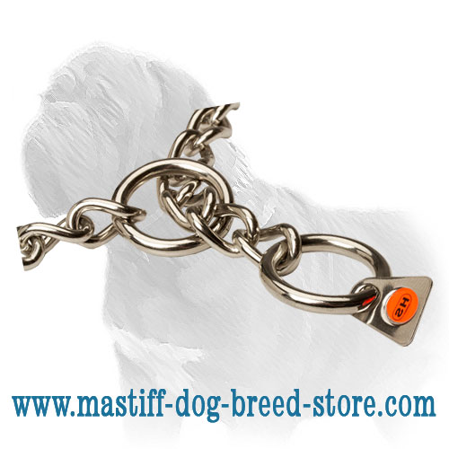 HS-stamp confirming quality of dog stainless steel collar