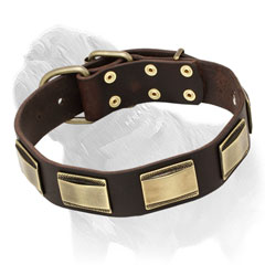Mastiff dog collar, exclusive design in black, brown or tan