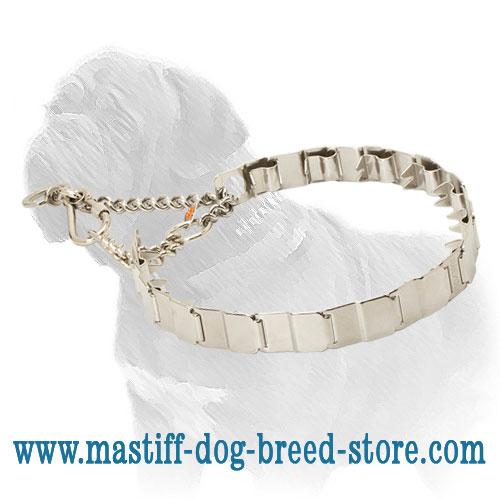Obedience training dog collar of stainless steel