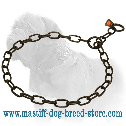 Dog chain collar, black