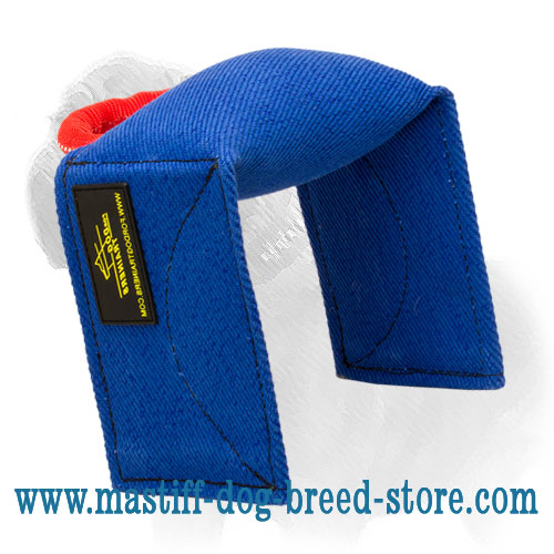Dog French linen bite pad for training