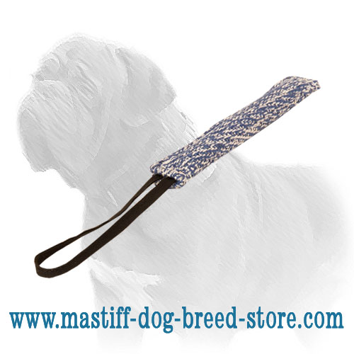 Long bite tug for training Mastiff puppies