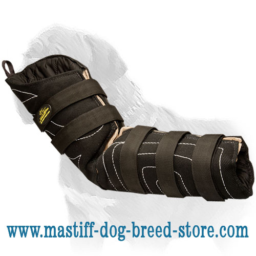 Bite hidden protective sleeve for protection Mastiff training