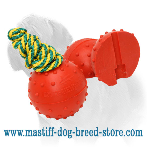 Solid rubber ball for Mastiff training