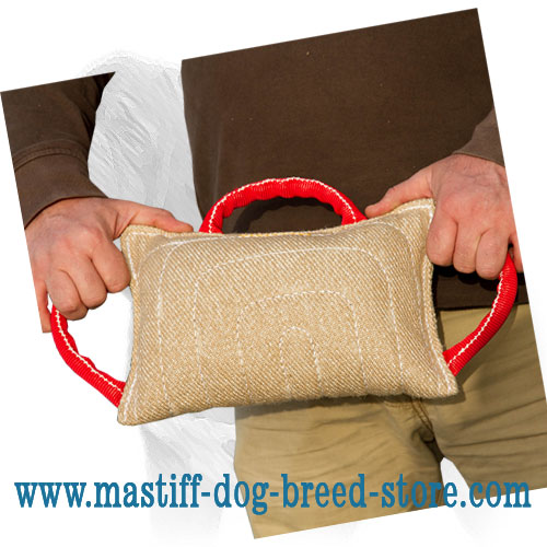 Bite pad for training Mastiffs with soft     stuffing