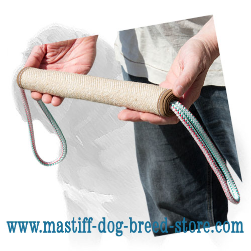 Bite training roll of jute material