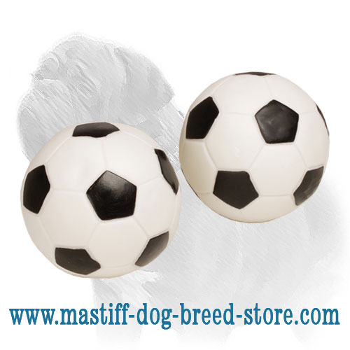 Soccer style dog ball of high quality rubber
