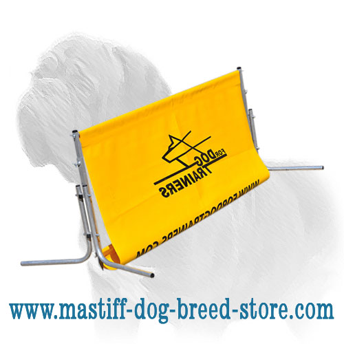 Mastiff training barrier of rustproof base