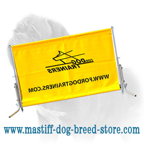 Dog training barrier, ultra-lightweight