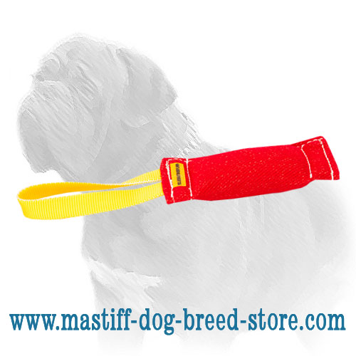 French linen bite tug for training powerful Mastiffs