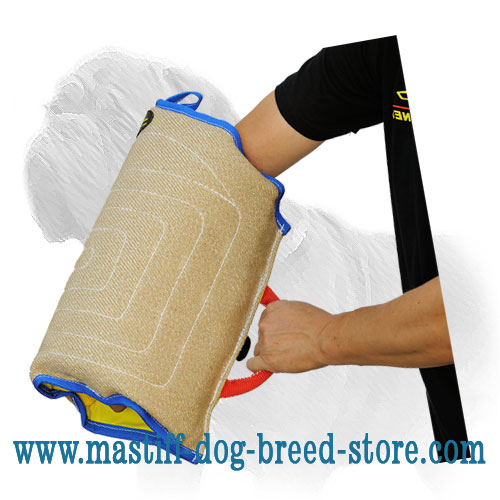 Dog sleeve of jute for successful bite training