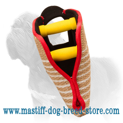 Bite Tug for Mastiff with two handles
