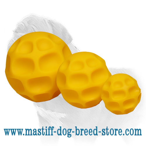 Dog tetra-flex balls: small, medium and big sizes