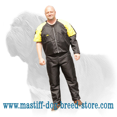 Waterproof scratch jacket for Mastiff training