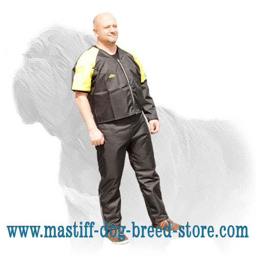 Lightweight pants and jacket for Mastiffs' training