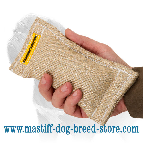 Dog bite tug for training proper dog grip