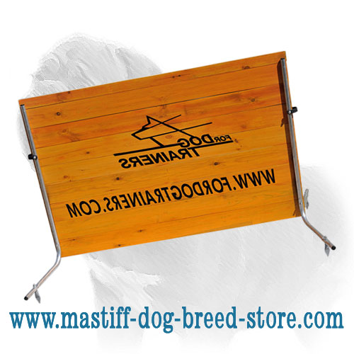 Mastiff training barrier of hard wood