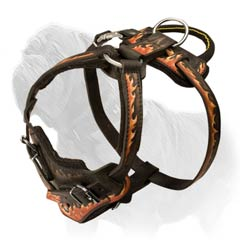 Soft and safe Mastiff agitation harness