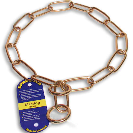 Herm Sprenger Brass Fur Saver Collars 4mm Mastiff