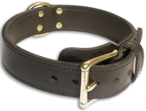 Best Mastiff Black dog collar 18 inch/18'' collar - c33nh