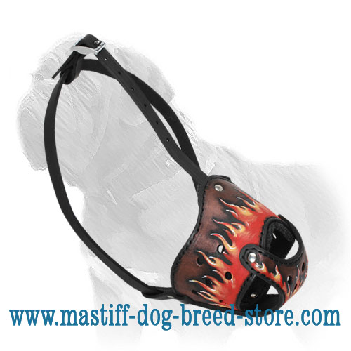 Sightly Leather Mastiff Muzzle - Click Image to Close
