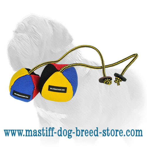 Mastiff French Linen Dog Toy on the String, Large Size