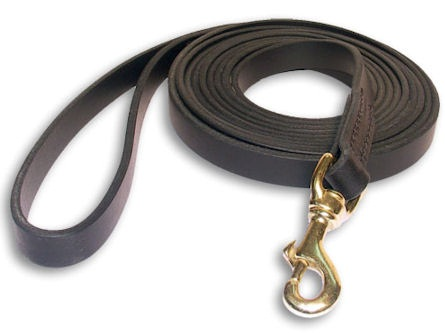 Tac-Black Leather Classic Agitation Leads for Mastiff