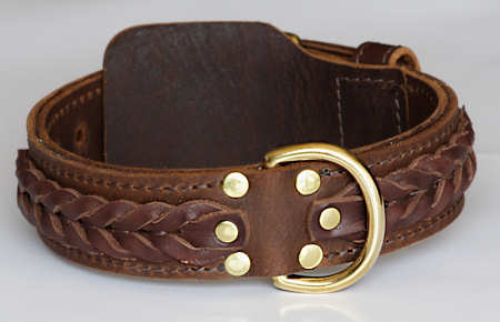 WESTERN DESIGNER CUSTOM LEATHER DOG COLLARS for Mastiff