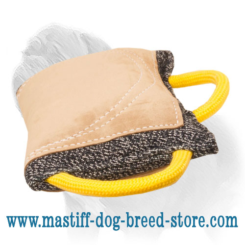 Mastiff Leather Covered Dog Bite Tug for Advanced Training