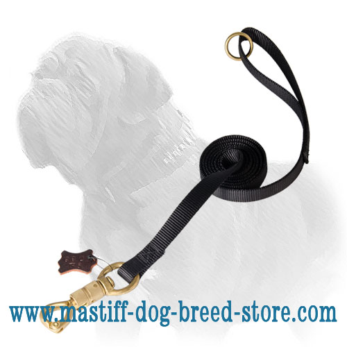 'Smart Lock' Mastiff Dog Leash of Strong Nylon