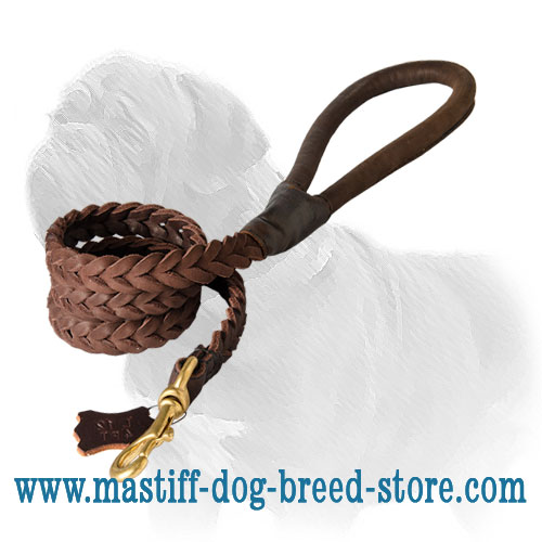 Mastiff dog leash, braided for stylish look