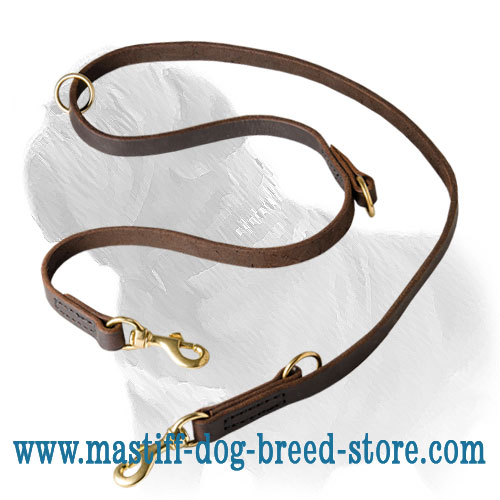 Top-quality Mastiff leash, stitched with wax coated threads