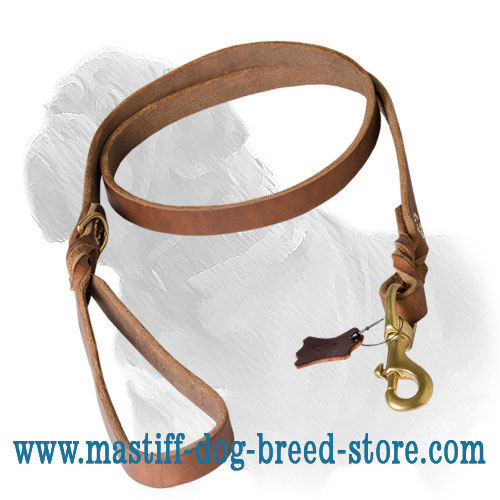 Dog leash for Mastiff walks and training made of durable leather