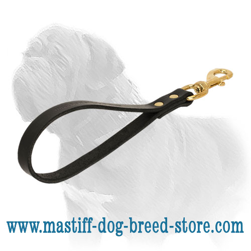 Mastiff dog leash of full grain latigo leather