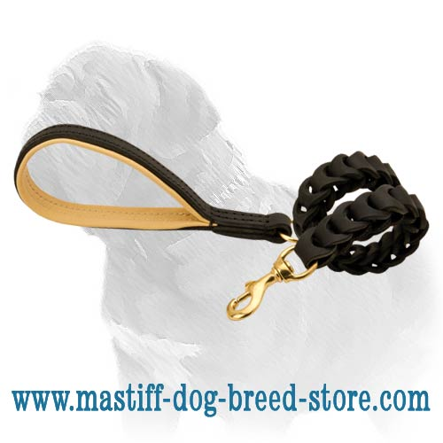 Anti-pulling canine leash for easy walking your Mastiff
