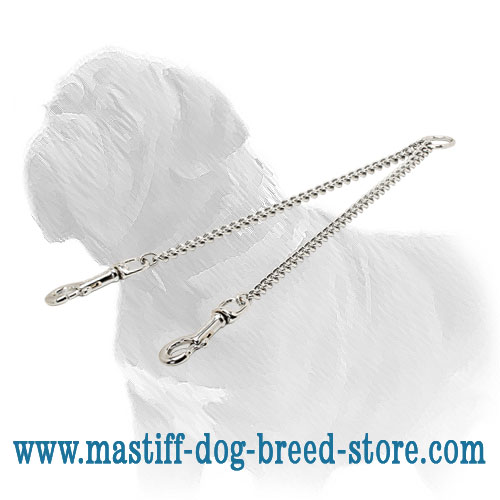 Strong chain coupler for 2 Mastiffs